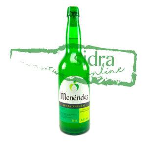 botella de sidra Menéndez