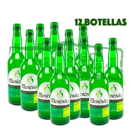 Doce botellas de sidra Menéndez