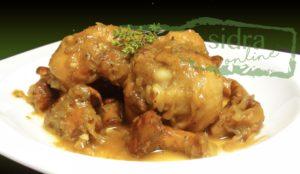 Plato de pollo a la sidra