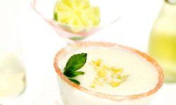 Copa de sorbete de limón a la sidra