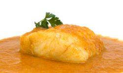 Pescado con salsa de sidra