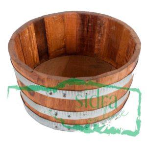 Tina de madera asturiana de castaño